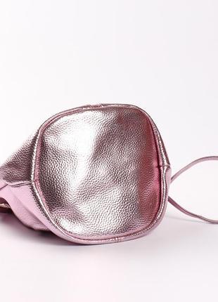 Необычная сумка на длинной ручке, цвет розовый электрик4 фото