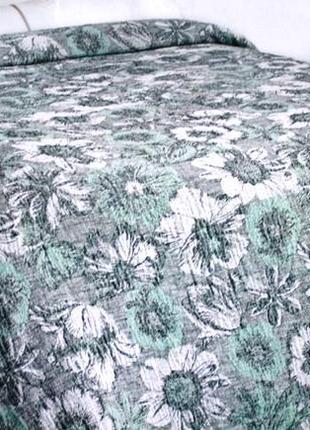 Покрывало цветочный ковер 240*210 см, лен/хл