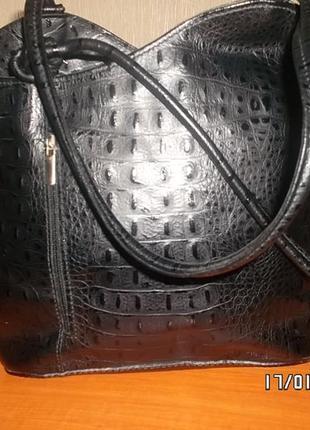 Итальянская кожаная сумка.