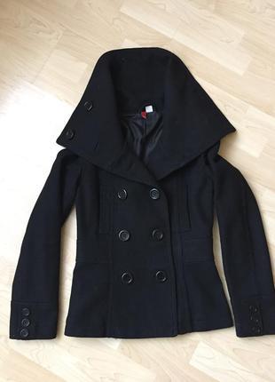 Пальто h&m xs-s 36 размер идеальное состояние