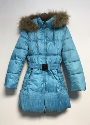 Зимний пуховик куртка 5-7 лет