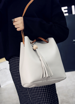 Стильная классная сумка, светло-серая1