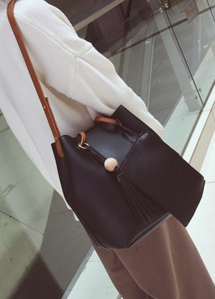 Супер современная сумка+кошелек в комплекте3