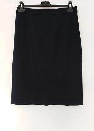 Базовая классическая темно- синяя юбка на подкладке marks&spencer