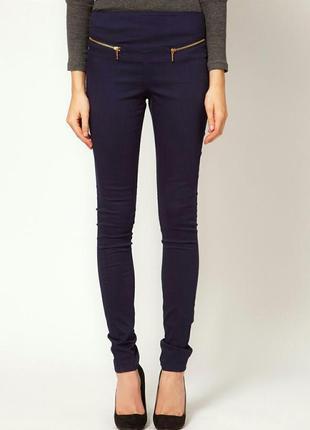 Джинсы штаны на высокой посадке с молнией сзади2