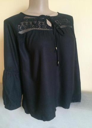 Чорна блузка блуза оверсайз c&a на 3/4 рукав yessica