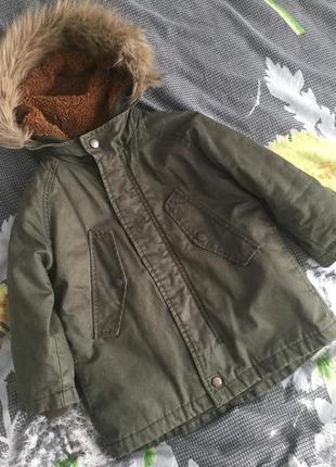 Парка і куртка бомбер хакі 2 в1 zara 🐢