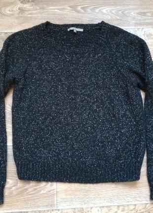 Черный свитер с люриксом