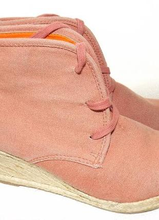 Ботинки на танкетке bianco 24,5 см стелька