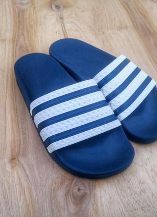 Adidas originals men's adilette slides adiblue/white g16220 b