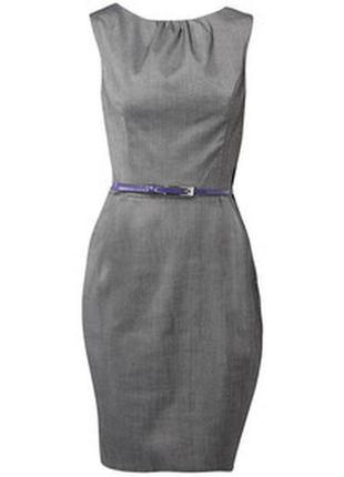 Новый фирменый базовый офисный сарафан - платье на подкладке от bhs жемчужного цвета