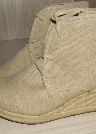 Ботинки на танкетке и шнурках 24,5-25 см bianco