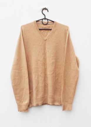 Зимний осенний 100% кашемировый свитер с длиннным рукавом