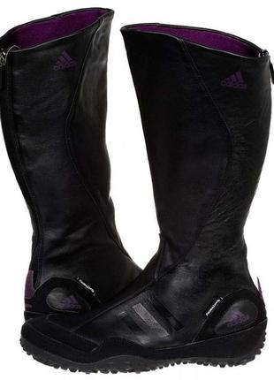 Женские кожаные сапоги adidas