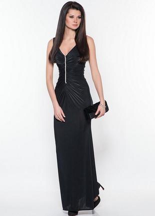 Шикарное длинное вечернее платье в пол идеал! s-m размер