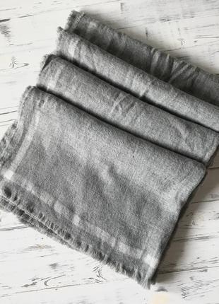 Большущий серый шарф/палантин zara