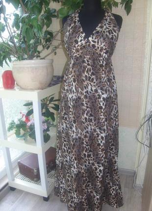 Пляжное платье, сарафан с открытой спиной