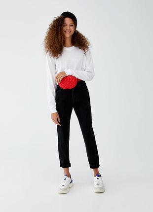Шикарные джинсы mom fit с высокой посадкой от pull&bear, 42р, испания