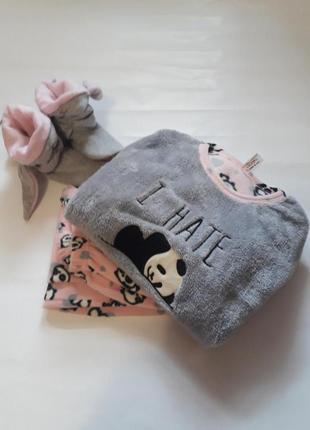 Тёплая флисовая пижама с пандой