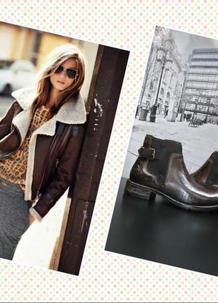 Ботинки челси из натуральной кожи европейского бренда marco tozzi, р. 36, 37, 38