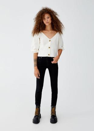 Черные джинсы от pull&bear, 36, 38р, оригинал, испания