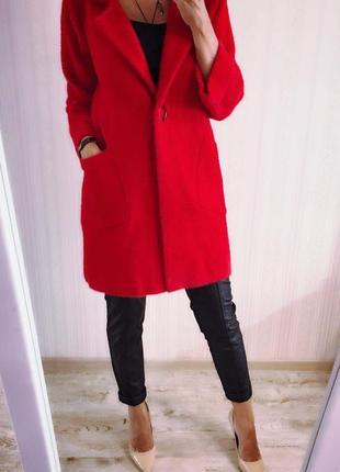 Идеальное пальто шерсть ангора пог 55