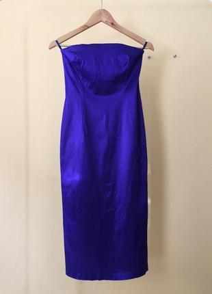 Коктейльное платье next с открытыми плечами