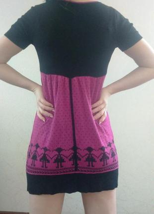Интересная туника, платье с орнаментом и стразами, молодежная одежда