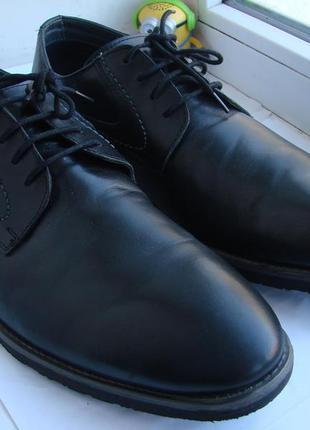 Кожаные туфли hush puppies - 46 р.  wide large