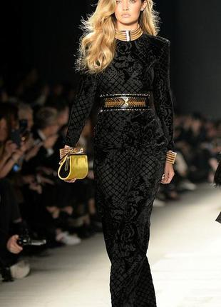 Крутий костюм balmain x h&m тренд 2019 бархат  висока талія шовк жакет блуза брюки труби
