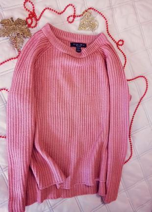 Вязаный свитер amisu с вырезами по бокам