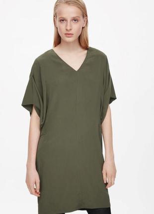 Оливковое платье cos