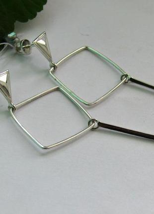 Серебряные серьги минимализм