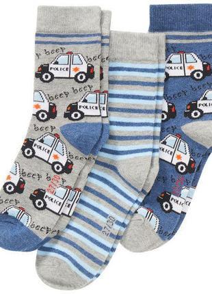 Комплект носков, носки мальчику, авто, полиция, kik, германия