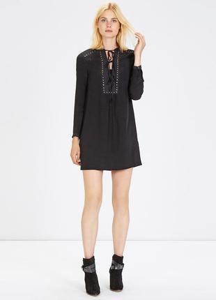 Платье черное рубашка туника большого размера warehouse