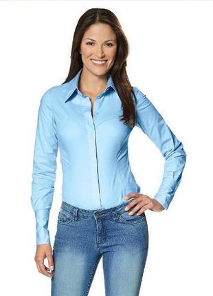 Новая рубашка боди с запонками голубая *vivien caron* 56-58р