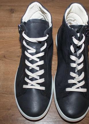 Кожаные ботинки ecco soft 7, 36 размер 23.5 см