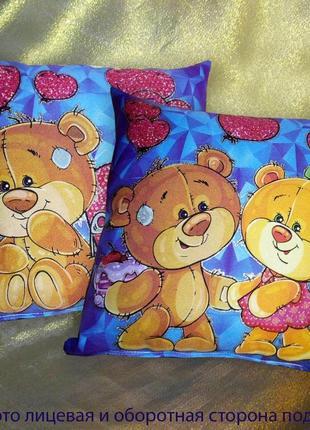 Подушка сувенирная мишки светятся в темноте