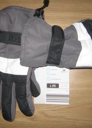 Мужские лыжные перчатки, термо краги,  thinsulate, из германии, р.9 и 9,5