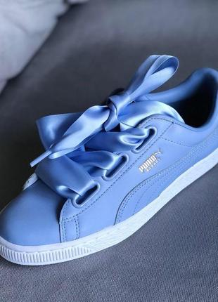 Новые небесно-голубые кеды puma basket (оригинал) 36р, 37,5р, 38р