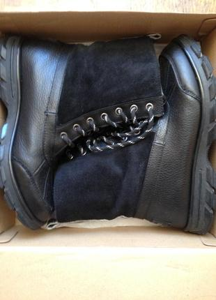 Суперские ботинки кожанные зимние skekers