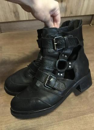 Ботинки кожа кожаные