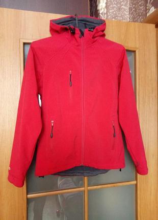 Куртка софтшелл с капюшоном s-m спорт softshell