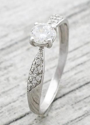 Кольцо серебряное полинка 1271