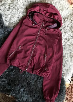 Женская ветровка , курточка bershka l укорочённая