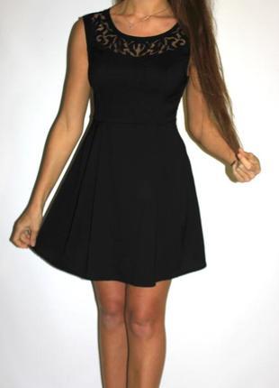 Шикарное черное платье , красивая спина (см доп фото)