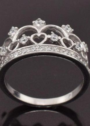 Кольцо серебряное корона 1441