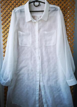 Легкая воздушная блузка-туника