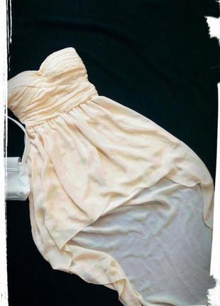 Вечернее платье со шлейфом,с,м,пудровое,шифон