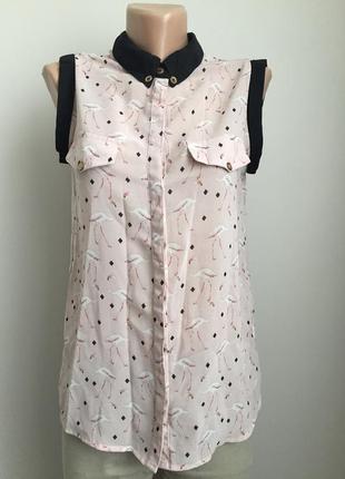 Блуза с фламинго